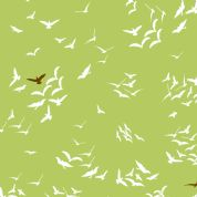 M Makower Birds and Bees - 3491 - Kites in Flight on Green - 6849 G32 - Cotton Fabric